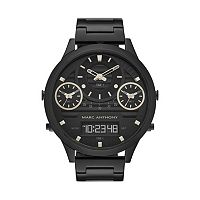 Marc Anthony Men's Modern Masculinity Black Stainless Steel Analog & Digital Watch