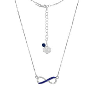 Penn State Nittany Lions Sterling Silver Crystal Infinity Necklace