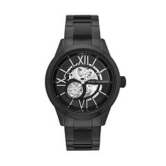 Marc Anthony Men's Smooth Sophistication Stainless Steel Skeleton Watch