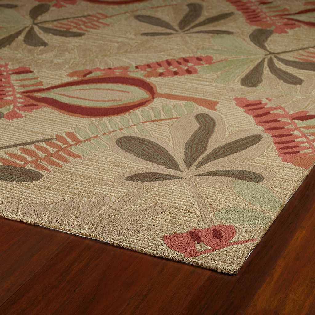 Kaleen Home & Porch Tybee Leaf Indoor Outdoor Rug