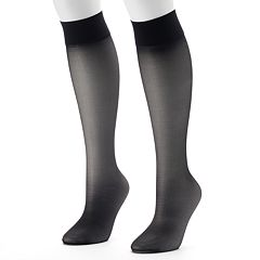 Hanes Alive 2 pkFull Support Knee-High Pantyhose