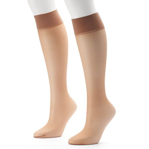 Hanes Alive 2-pk. Full Support Knee-High Pantyhose