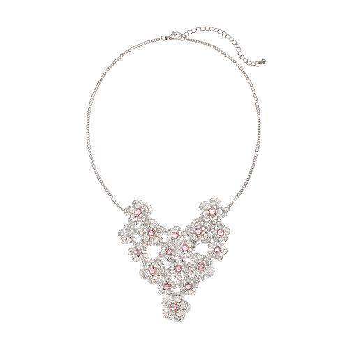 Mudd® Flower Bib Necklace