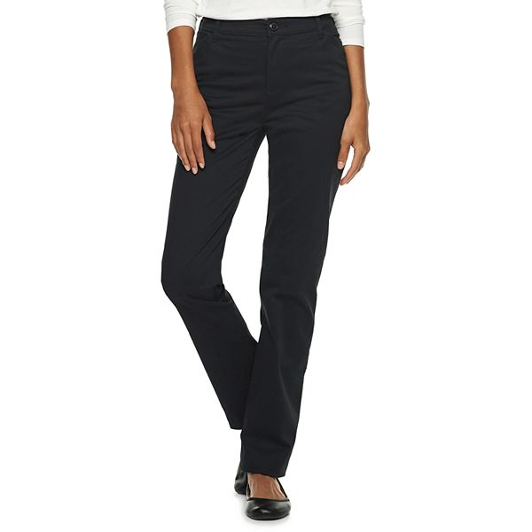 6 Short Petite Lee Womens Relaxed Fit All Cotton Straight Leg Jean Pure Black