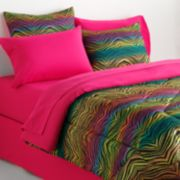 Veratex Rainbow Zebra Reversible Comforter Set