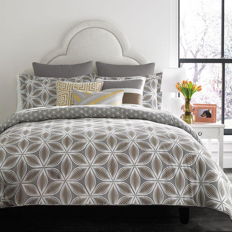 happy chic by jonathan adler laura 3 pc reversible comforter set grey. Black Bedroom Furniture Sets. Home Design Ideas