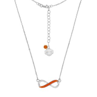 Florida Gators Sterling Silver Crystal Infinity Necklace
