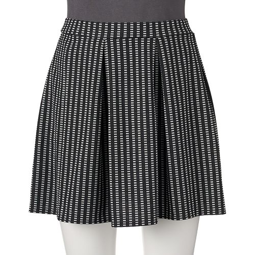 Juniors' Joe B Patterned Pleated Skirt