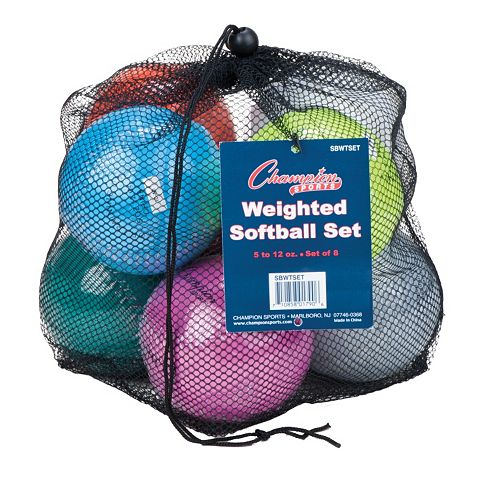 Champion Sports 8-pc. 12-in. Weighted Training Softball Set