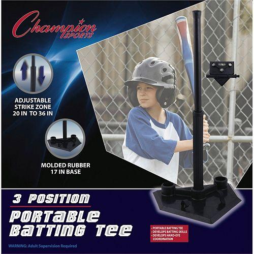 Champion Sports T-Ball 3-Position Portable Batting Tee