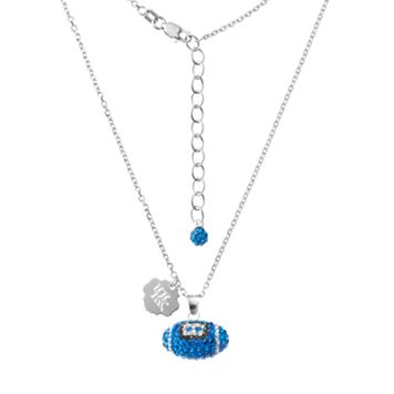 Kentucky Wildcats Sterling Silver Team Logo & Crystal Football Pendant Necklace