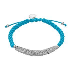 Kentucky Wildcats Crystal Sterling Silver Bar Link & Team Logo Charm Slipknot Bracelet