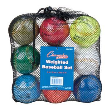 Champion Sports 9-pk. Weighted Training Baseball Set