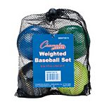 Champion Sports Weighted Training Baseball Set