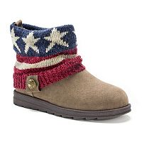 MUK LUKS American Flag Patti Women's Ankle Boots