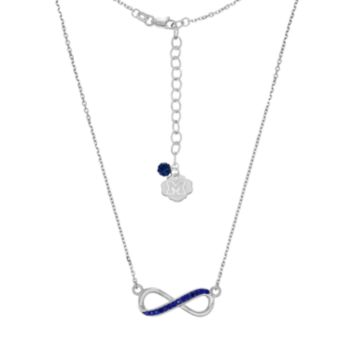 Michigan Wolverines Sterling Silver Crystal Infinity Necklace