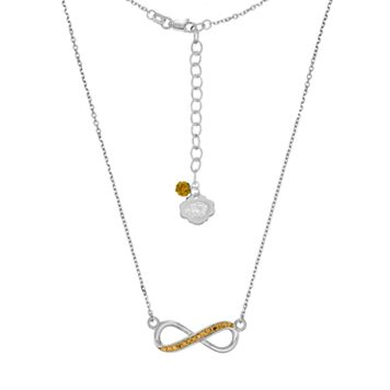 Missouri Tigers Sterling Silver Crystal Infinity Necklace
