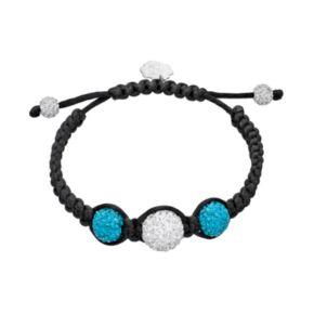 North Carolina Tar Heels Crystal Ball & Sterling Silver Team Logo Slipknot Bracelet