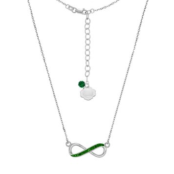 Oregon Ducks Sterling Silver Crystal Infinity Necklace