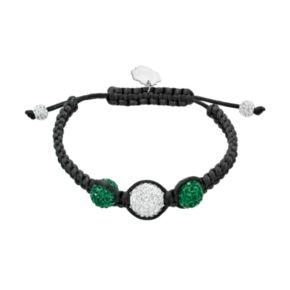 Oregon Ducks Crystal Ball & Sterling Silver Team Logo Slipknot Bracelet