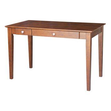 International Concepts Flip-Down Drawer Computer Desk