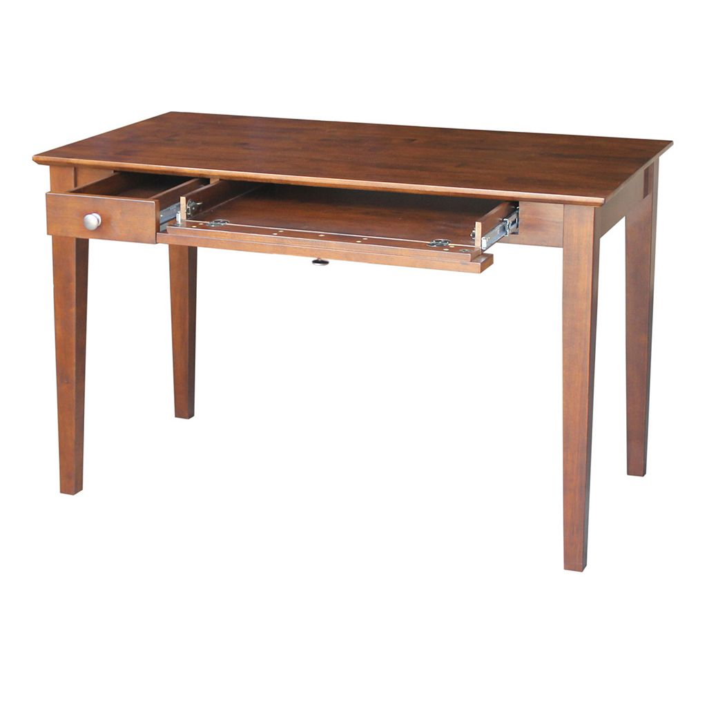 International Concepts Flip-Down Drawer Computer Desk