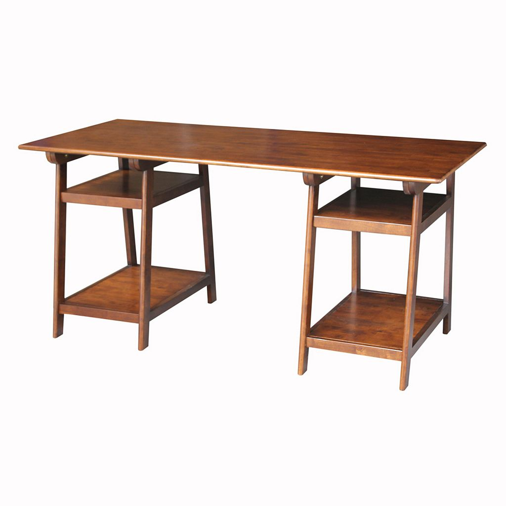 International Concepts Espresso Loft Desk