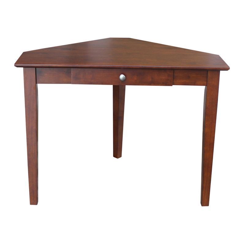 International Concepts Corner Computer Desk, Brown