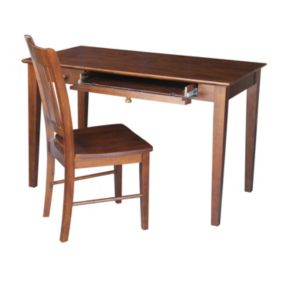 International Concepts 2-piece Finished Computer Desk and Chair Set