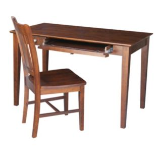 International Concepts 2-piece Computer Desk and Chair Set