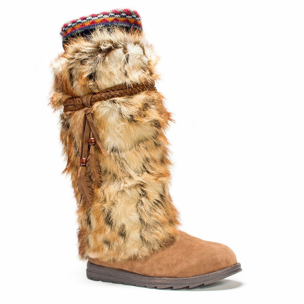 MUK LUKS Leela Faux Fur Women's Knee-High Winter Boots