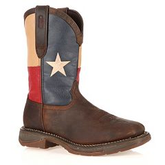Durango Rebel Texas Flag Men's Steel-Toe Western Boots