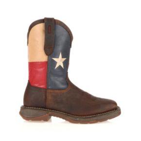 Durango Rebel Texas Flag Men's Steel-Toe Western Boots