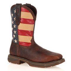 a7e3478aaaf Durango Workin  Rebel American Flag Steel-Toe Western Boots