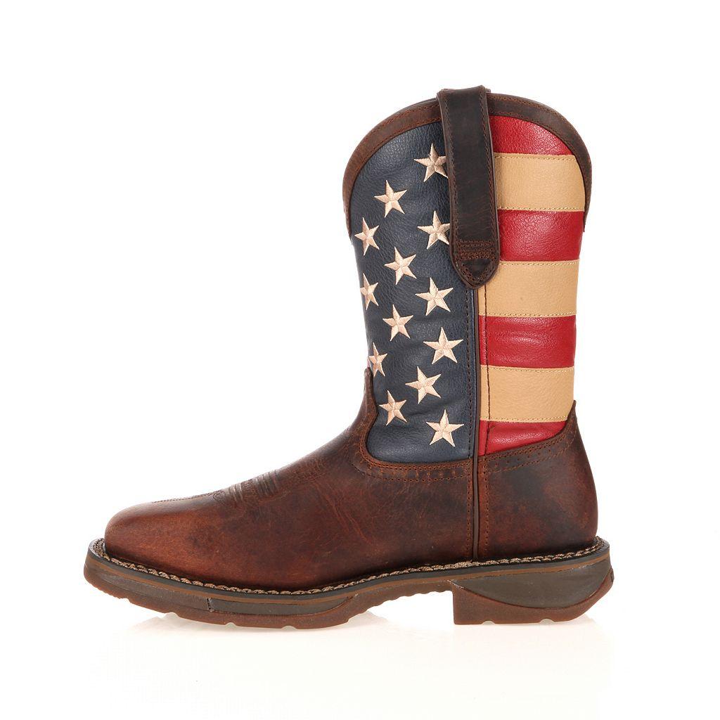Durango Workin' Rebel American Flag Steel-Toe Western Boots