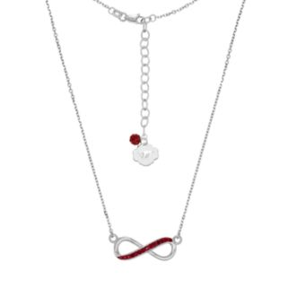 Virginia Tech Hokies Sterling Silver Crystal Infinity Necklace