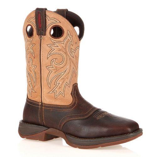 Durango Rebel Men's Waterproof Steel-Toe Western Boots