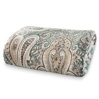 Grand Collection Crystal Paisley Fleece Blanket