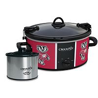 Crock-Pot Cook & Carry Wisconsin Badgers 6-Quart Slow Cooker Set