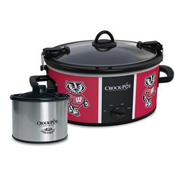 Crock-Pot Cook & Carry Wisconsin Badgers 6-Quart Slow Cooker Set