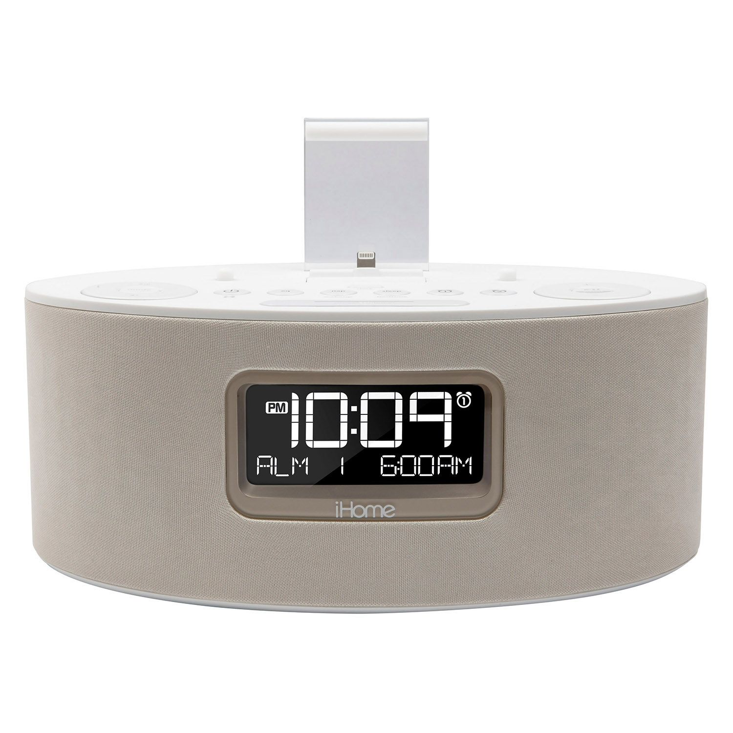 ihome idl46 ipad iphone ipod fm stereo alarm clock radio