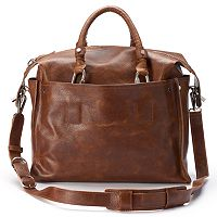 AmeriLeather Holmes Leather Convertible Tote