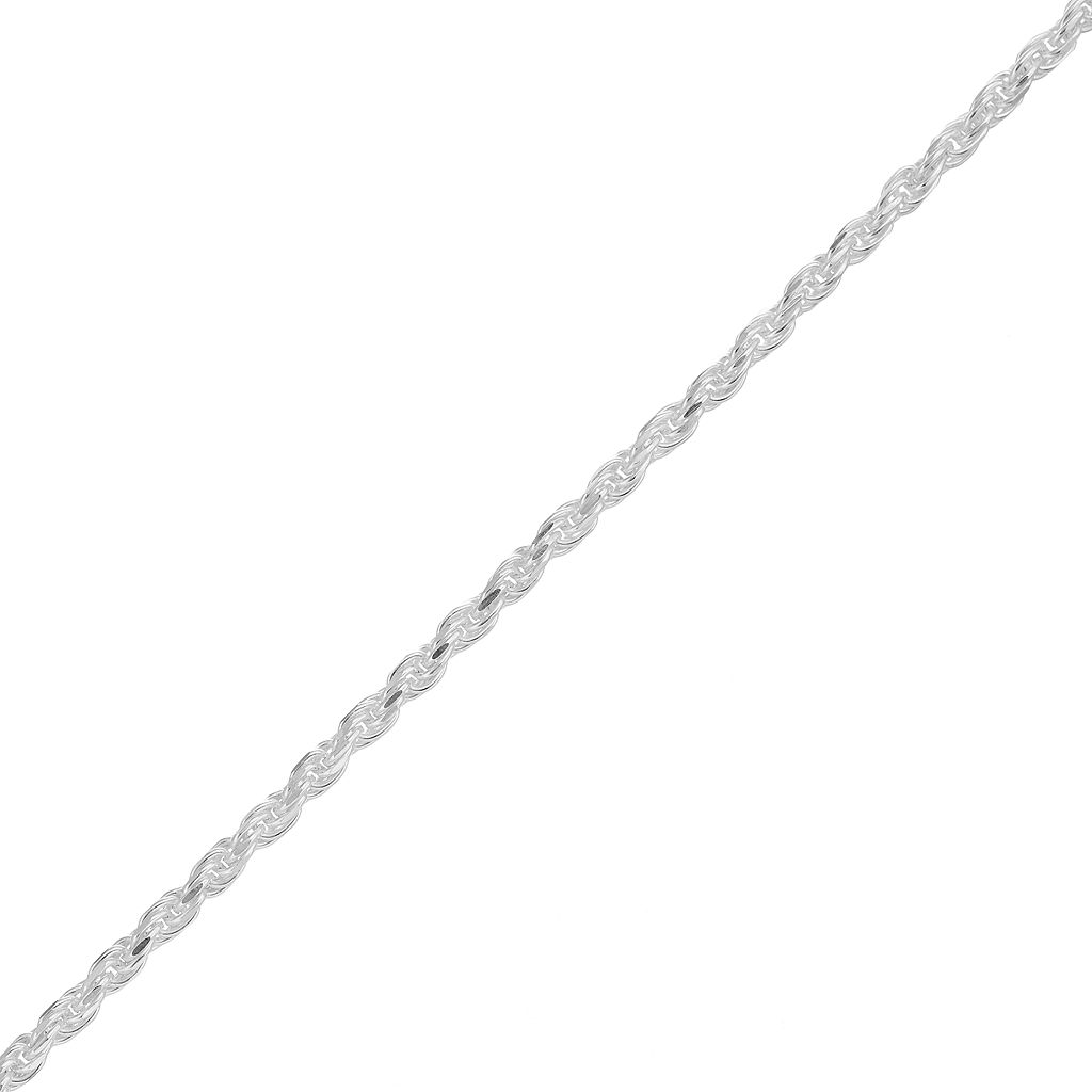 PRIMROSE Sterling Silver Rope Chain Bracelet - 8 in.