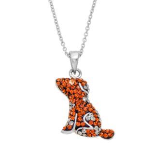 Crystal Dog Pendant Necklace