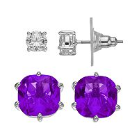 CITY ROX Cubic Zirconia Stud Earring Set