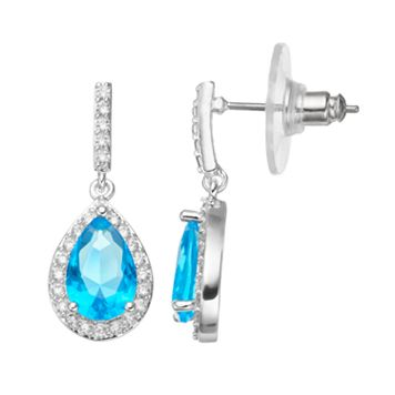 CITY ROX Cubic Zirconia Teardrop Earrings