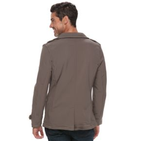 Urban Republic Double-Breasted Softshell Peacoat - Men