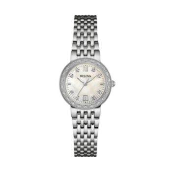 Bulova Women's Diamond Stainless Steel Watch - 96R203