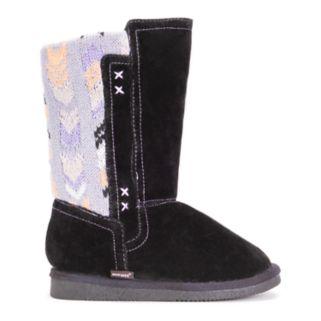 MUK LUKS Stacy Girls' Knit Trim Boots