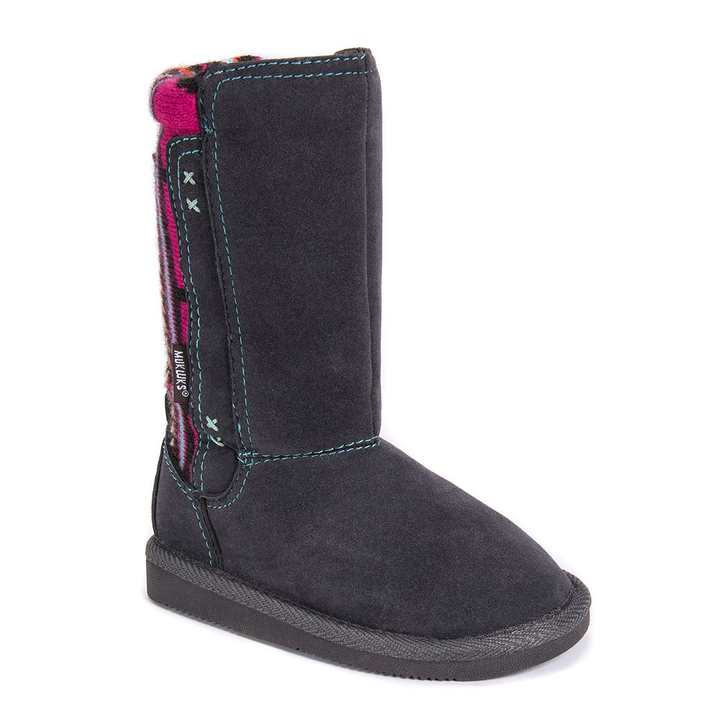 MUK LUKS Stacy Girls' Knit Trim Boots